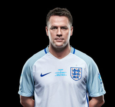 Michael Owen in his England Soccer Aid shirt.