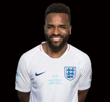 Darren Bent in his Soccer Aid kit