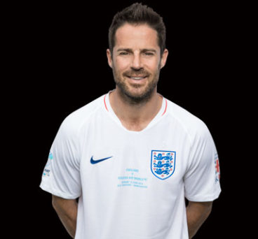 Jamie Redknapp in his Soccer Aid kit.